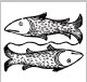 A 1491 woodcut of the classical representation of Pisces as two tethered fishes